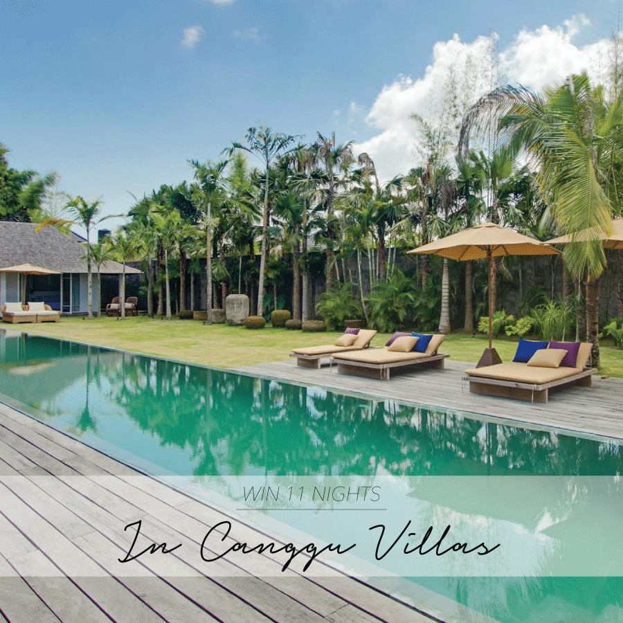 CANGGU VILLA GIVEAWAY – WIN 11 NIGHTS IN BALI