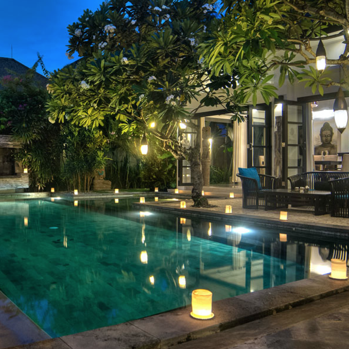 VILLA SENANG, SEMINYAK, 4 bedrooms, $415 – $610 per night